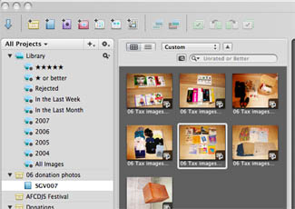 Arrange and Tweak Images in Aperture