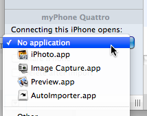 Stop iphoto launching